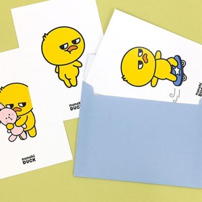 핑크풋 눈치덕 엽서카드 편지지 (8종 중 1개)