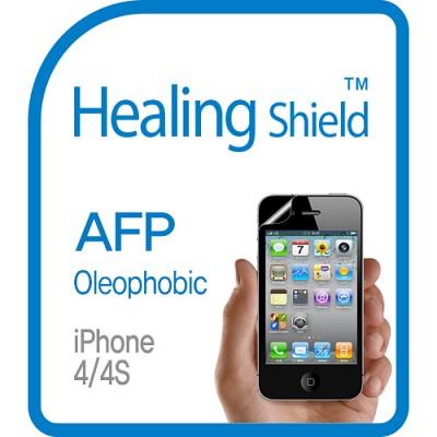 [힐링쉴드] 아이폰4S/4 AFP 올레포빅 액정보호필름 2매+후면보호필름 1매(HS140299)