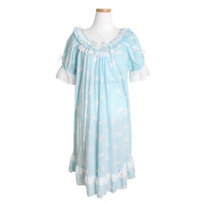 [쿠비카]리본 반소매 밤부원피스 여성잠옷 W148