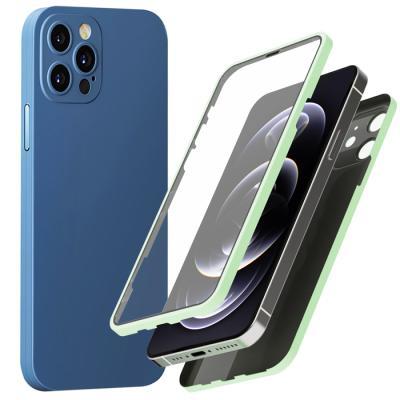 슈퍼쉘 아이폰12 생폰 360 강화유리 액정필름 케이스