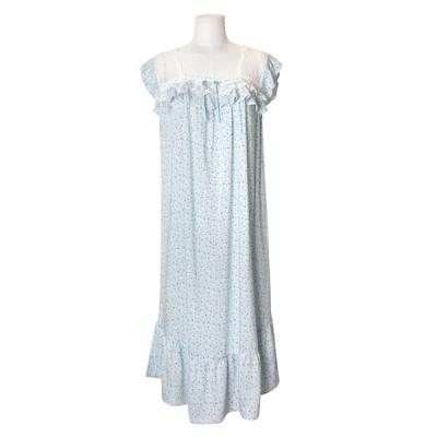 [쿠비카]플라워 레이온 민소매 롱 원피스 잠옷 W600