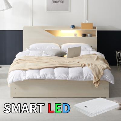 스마트 LED 침대 퀸(라텍스독립매트) KC174Q