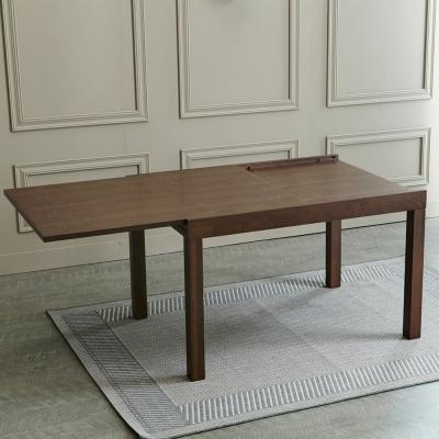 [리비니아]비치우드 사각 확장형식탁