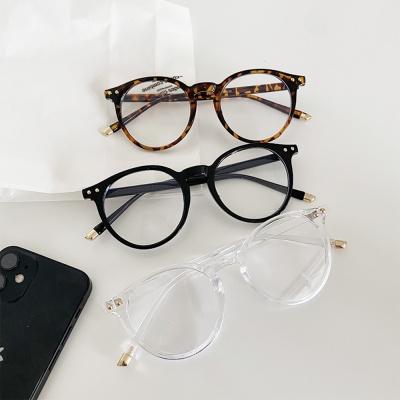 동글이 안경 투명 호피 검정 라운드 뿔테 gl-1 보니