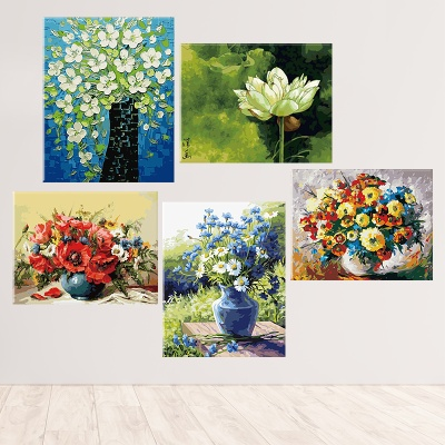 그림그리기 세트 캔버스 식물 꽃 40x50