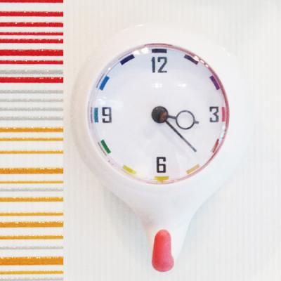 듀오[Duo] 흡착식 욕실 방수시계_멀티핑크