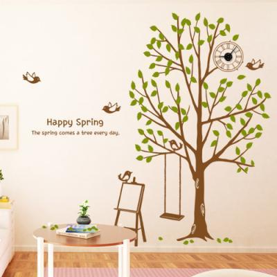 ig100-따스한봄의나무숲_그래픽시계(중형)
