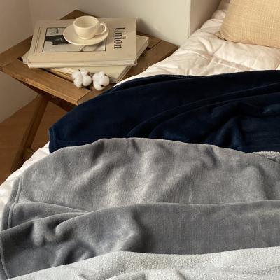 극세사 소프트 무지 무릎 담요 블랭킷 3color
