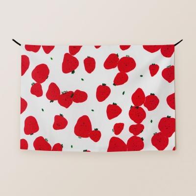 패브릭 포스터 / 봄 딸기 빨강