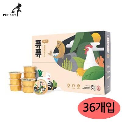 퓨퓨 미니캔 50g (황태와 닭고기) (36개입) (1박스)