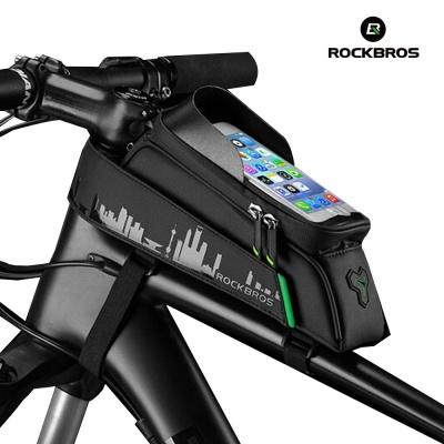 락브로스 자전거 프레임 핸드폰 가방 029-1BK[6.0]