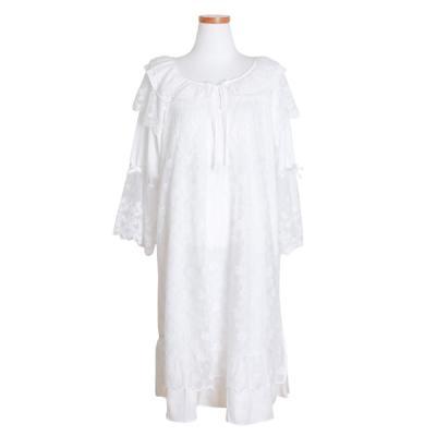 [쿠비카]셔링 레이스 원피스 여성잠옷 W470