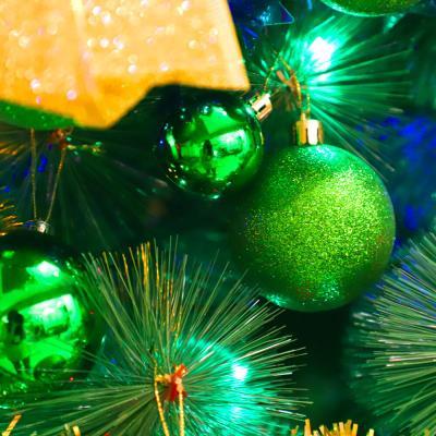 크리스마스 장식볼 오너먼트 6cm 16입 (그린)