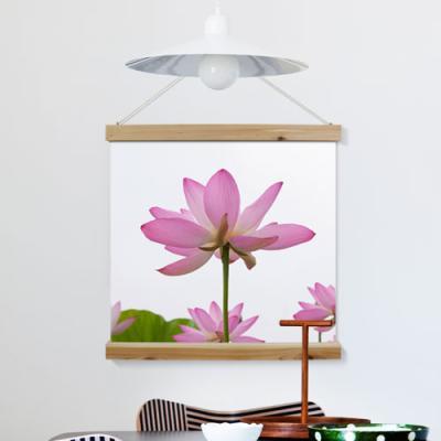 ah321-우드스크롤_60CmX60Cm-풍수부귀수려한연꽃