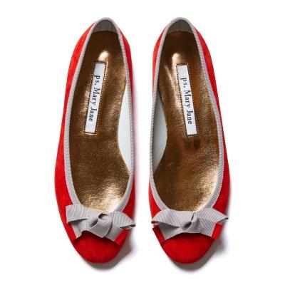 [피에스메리제인]7081 Ann N-Bow (Rose Red+Silver)