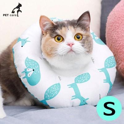 힐링타임 강아지 도넛 쿠션 넥카라 (아쿠아폭스) (S)