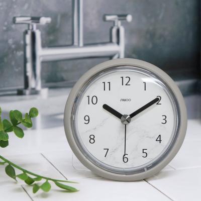[시우아트] 마블패턴 욕실시계 (방수/흡착)