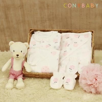 [CONY]신생아선물6종세트(딸기+베베애착인형)