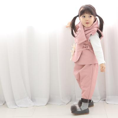 피그먼트 본딩 조끼(핑크)