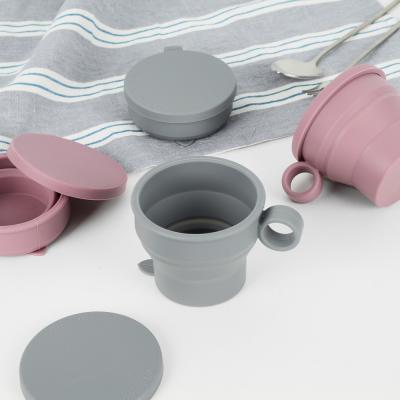 파스텔 실리콘 자바라 휴대용 컵 4종