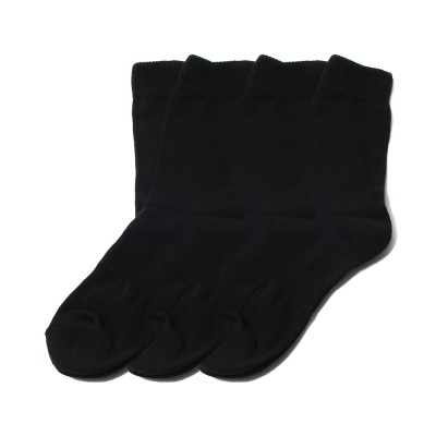 [3팩] 1257 #WACOQ ATHLETIC BLACK SOCK