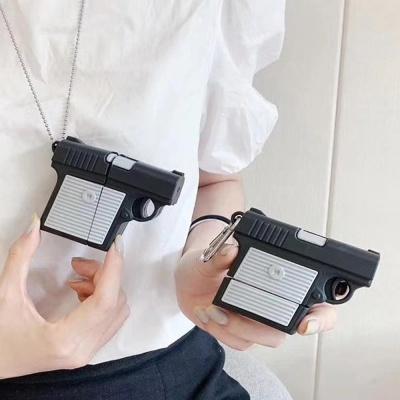 에어팟 1/2/3/프로 특이한 권총 실리콘 이어폰 케이스