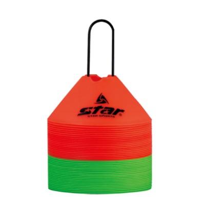 [스타스포츠] 접시콘 십자구 40개입 (빨강+녹색)