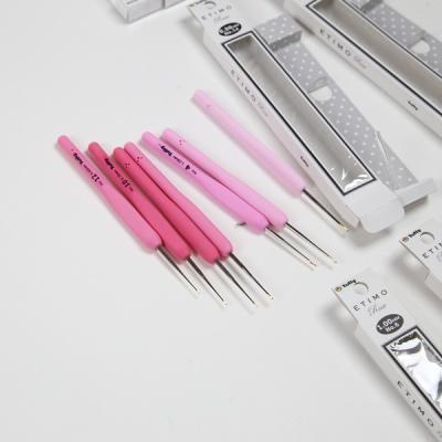 [앵콜스] 튤립 핑크 로즈 코바늘(모사용) 뜨개실 바늘