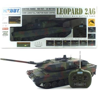 1/16 빅스케일 레오파드 탱크 RTR R/C모형 (HBE298044CA) LEOPARD 무선모형 RC탱크