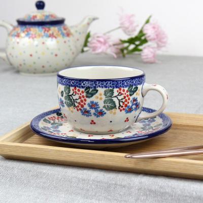 폴란드그릇 아티스티나 티잔&소서세트 200ml 패턴2055