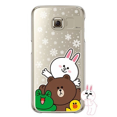 [SG DESIGN] Galaxy S7 라인프렌즈 SNOW TOGETHER LIGHT UP Case - GOLD(하드타입/라이팅)