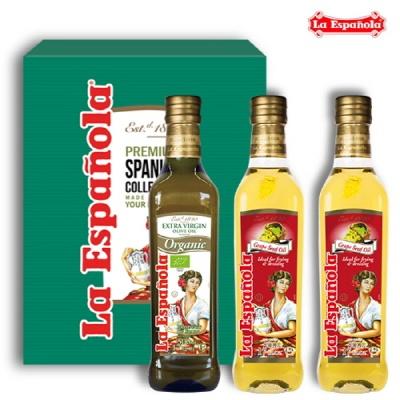 [에스파놀라]올리브유1병+포도씨유2병 500ml선물세트
