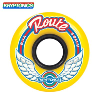 [KRYPTONICS] ROUTE YELLOW 83A SOFT WHEELS 58MMX35MM