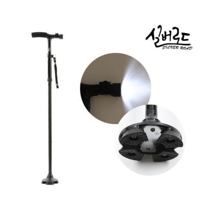 [실버로드] 정품 노인 효도 LED 접이식 지팡이
