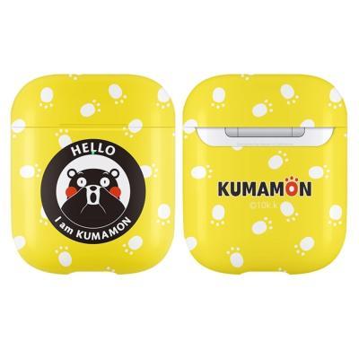 구마몬 패턴 에어팟 하드 케이스      옐로우