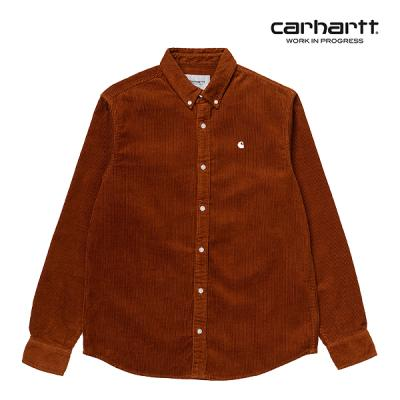 칼하트WIP L/S Madison Cord Shirt (Brandy / Wax)