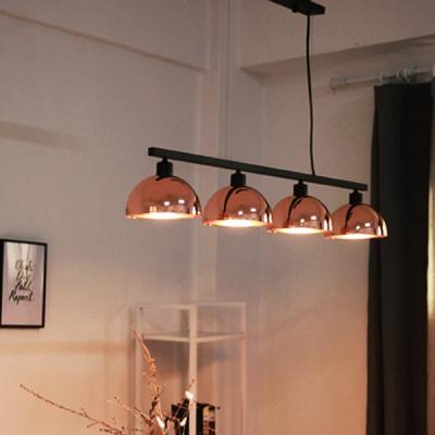 심블 펜던트 4등 -핑크골드(LED겸용 국내산 정품)