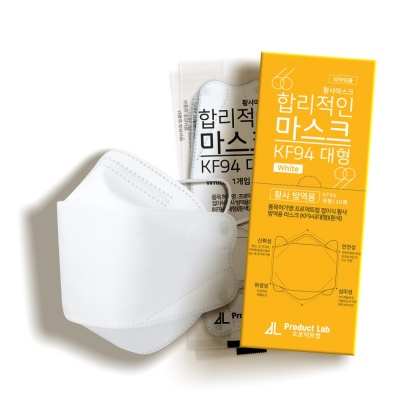 합리적인 KF94 황사마스크 대형 20매_개별포장 화이트