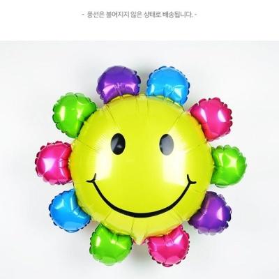 유아 어린이 이벤 파티 행사 칼라 해바라기 호일 풍선