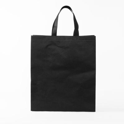 세로형 부직포 가방 블랙 실내화가방 보조가방
