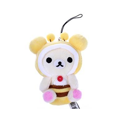 코리락쿠마 꿀벌 시팅 핸드폰줄