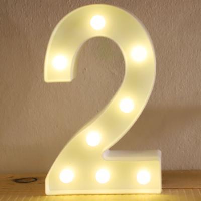 LED 앵두전구 조명등 숫자 2