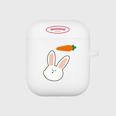 rabbit pattern 에어팟 케이스[white]