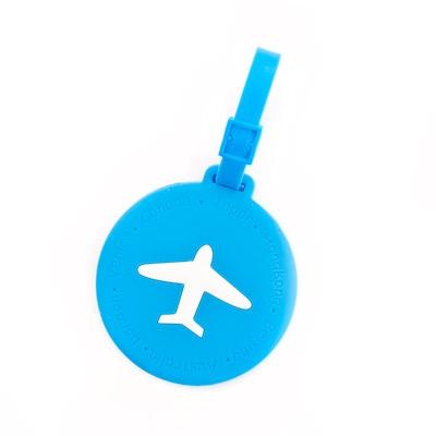 블루 라운드 비행기 트래블 네임택