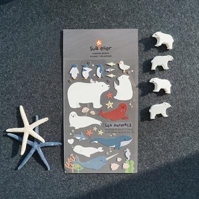 JR 스티커 1071-sea animals