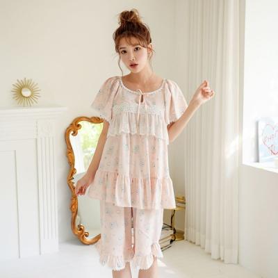[쿠비카]드림베어 모티브 5부 투피스 여성잠옷 W605