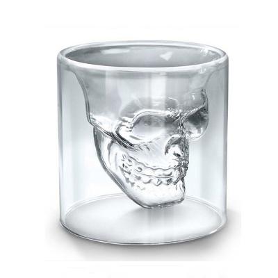 [로하티]해골 칵테일잔 200ml/ 이중유리 양주잔