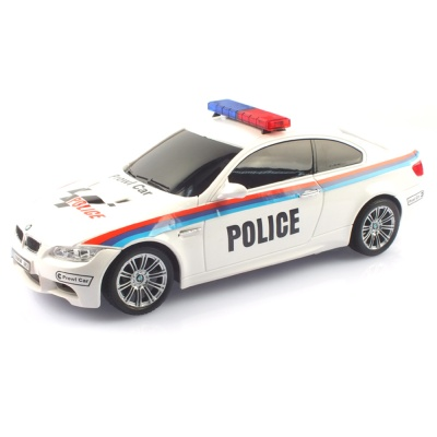 2.4GHz 1/18 BMW M3 경찰차 무선조종RC 화이트