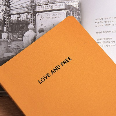 LOVE AND FREE blank note ver.03 - yellow
