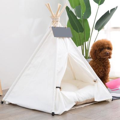 강아지 텐트 반려동물 인디언 하우스 방석 세트 보니